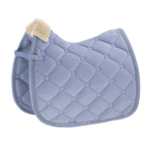 Eskadron Classic Sports Saddle Cloth VELVET FAUXFUR Sky Blue