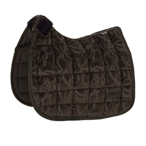 Eskadron Platinum Velvet Stamp Saddle Pad Havana Brown