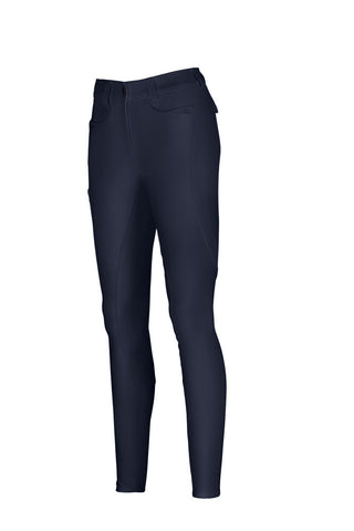 Pikeur Laure McCrown Suede Breeches Full Patches: Navy Blue