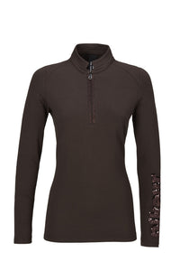 Pikeur Keala Long Sleeve Tech Top Chocolate