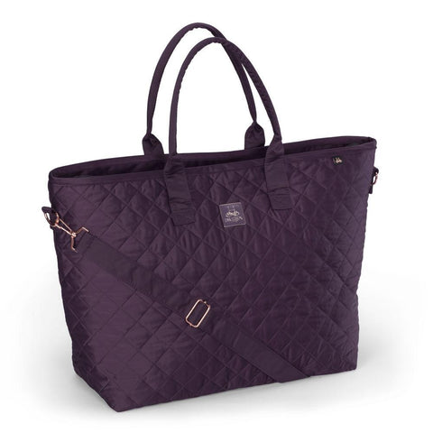Eskadron Heritage Glossy Quilted Shopper Bag Deep Berry