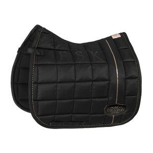 Eskadron Heritage Glossy Big Square Saddle Pad Black