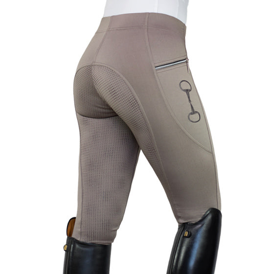HorseGloss Techincal Stretch Full Seat Silicone Legging Frappuchino