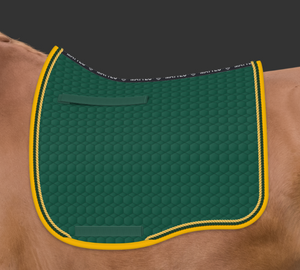 Mattes Green & Gold Cotton Pad
