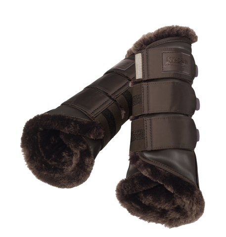 Eskadron Platinum Faux Fur Tendon Boots Havana Brown [Set of 4]