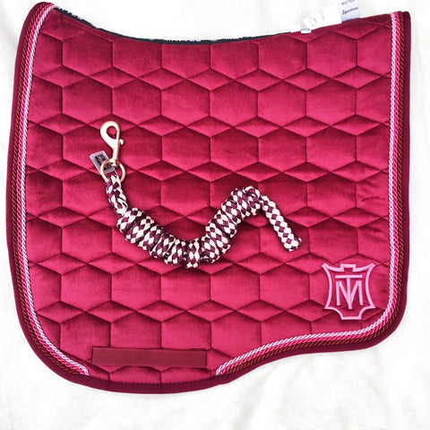 Mattes Queen of Hearts Velvet Dressage Pad