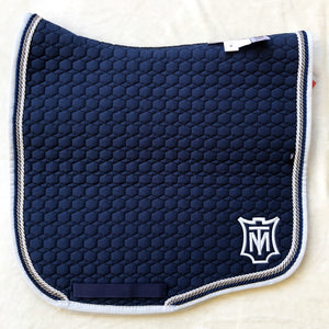 Mattes Navy & Silver Cotton Eurofit Dressage [In stock]