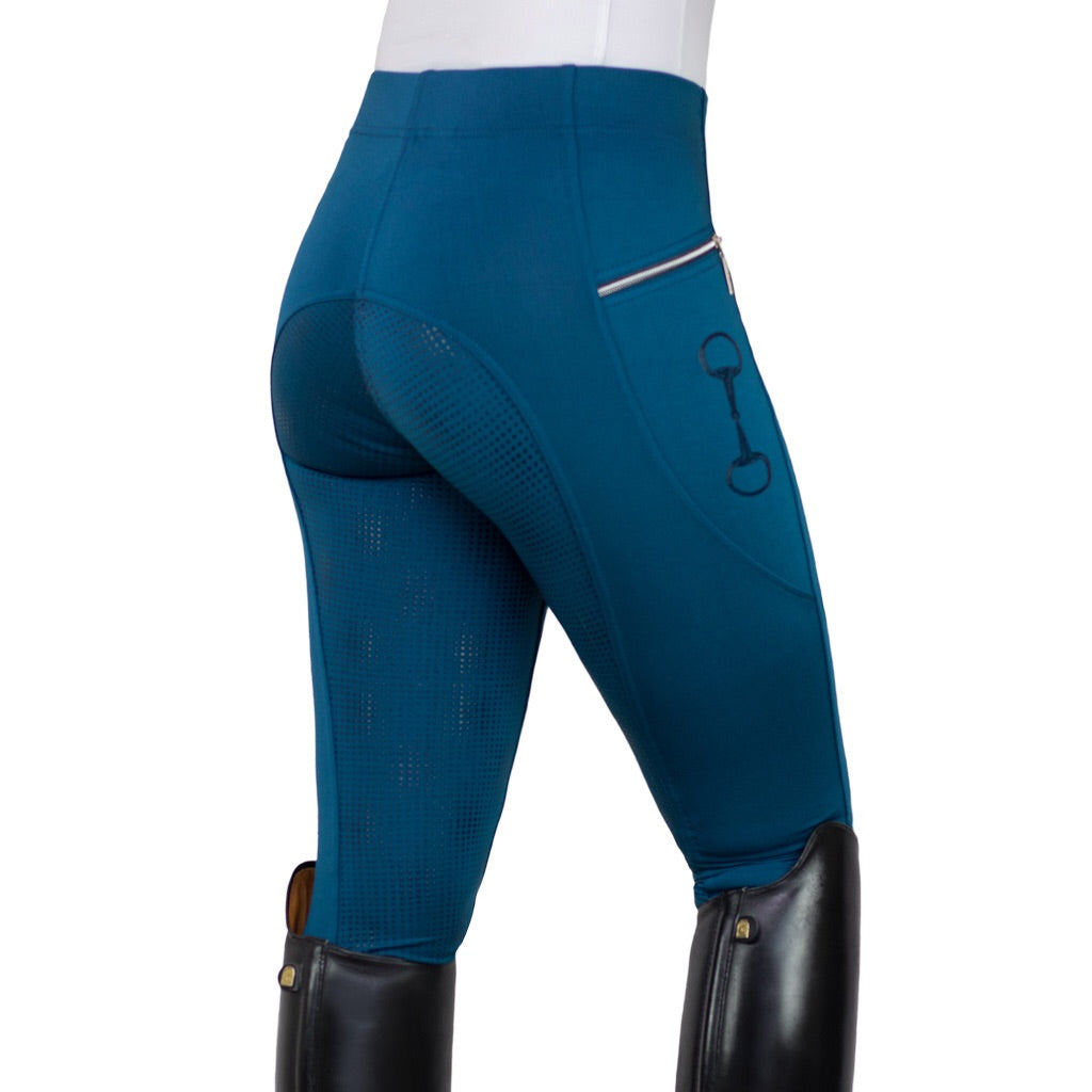 HorseGloss Techincal Stretch Full Seat Silicone Legging Midnight Blue