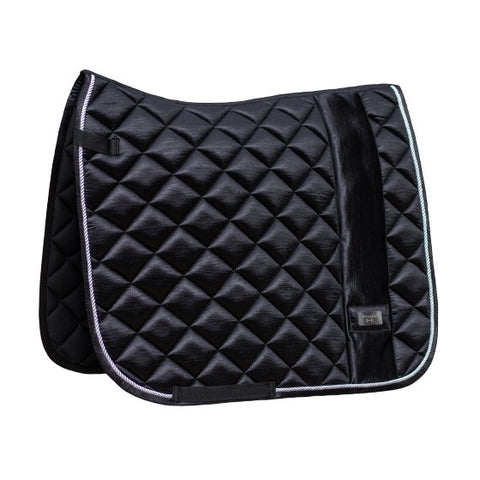 HorseGloss 'Mabel' Deluxe Lustre Saddle Pad Black Pearl