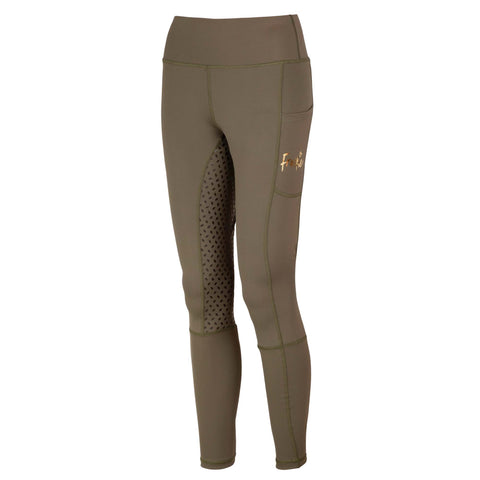 Frankie Comfort Grip High Waist Legging Breeches - Martini Olive