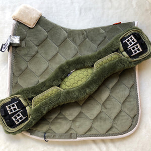 Mattes Olive Anatomical Girth 65cm [In Stock]