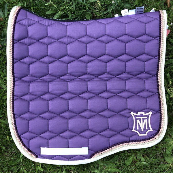 Mattes Violet Crumble Saddle Pad [Custom Order]