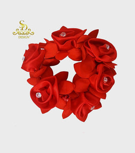 SD Design Crystal Rose Bun Scrunchie
