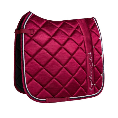 HorseGloss Burgandy Deluxe Saddle Pad