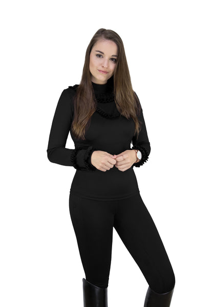 HoseGloss Ruffle BaseLayer Black