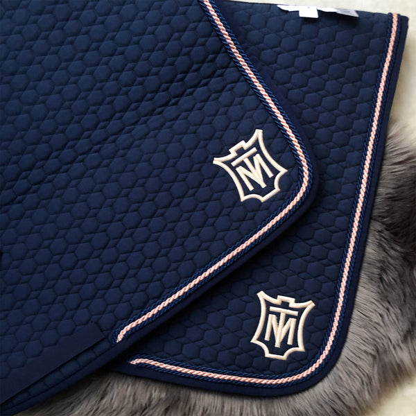 Mattes Navy Cotton Square Pad [In stock]
