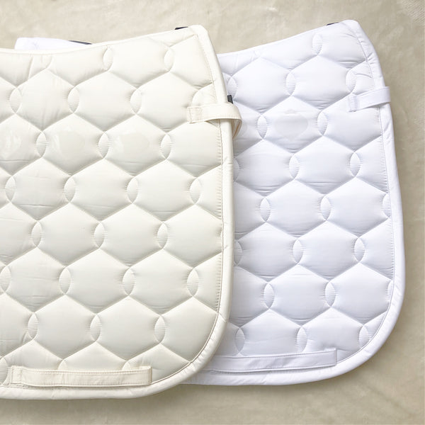 Eskadron Glossy Wave Snow White Saddle Pad