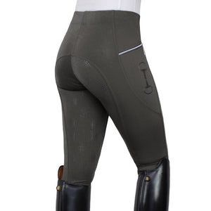 HorseGloss Technical Stretch Full Seat Silicone Leggings Grey