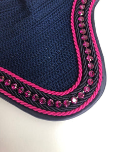By Heike Navy & Raspberry Soundproof Ear Bonnet