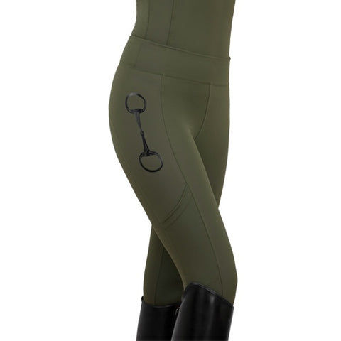 HorseGloss Olive Leggings - Olive