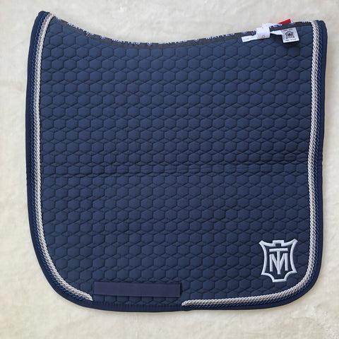 Mattes Navy / Grey Square Dressage Pad In Stock