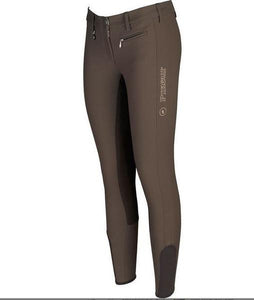 Pikeur Lucinda Grip Breeches Brocade Brown - In stock