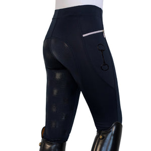 HorseGloss Technical Stretch Full Seat Silicone Leggings Navy XL