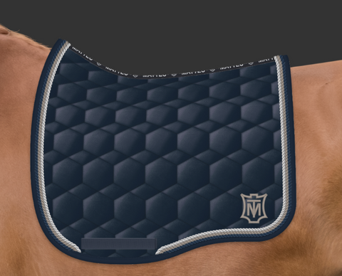 Mattes Navy Grey Sheen Saddle Pad [Custom]