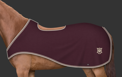 Mattes Blackberry & Champagne Riding Rug