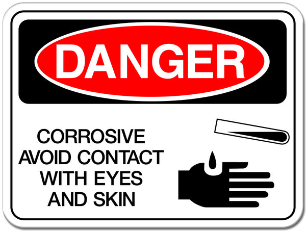 Corrosive, Avoid Contact with Eyes and Skin