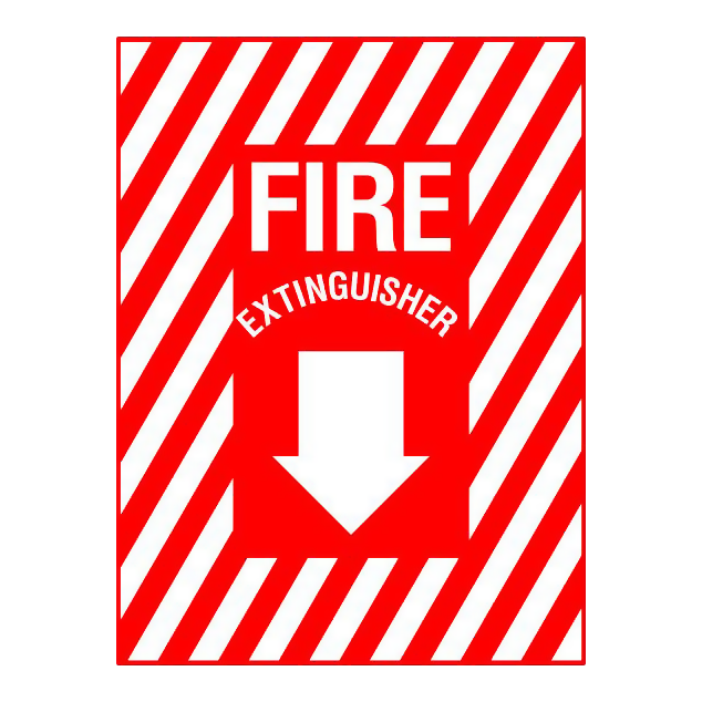 Fire Extinguisher With Arrow