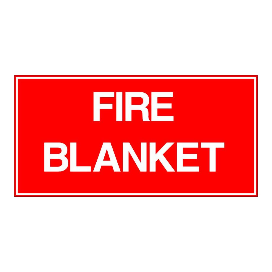 Fire Blanket - Text Only
