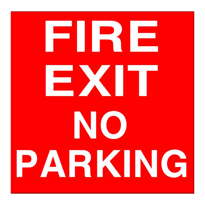 Fire Exit - No Parking
