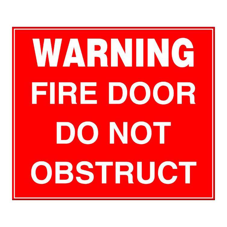 Fire Door - Do Not Obstruct