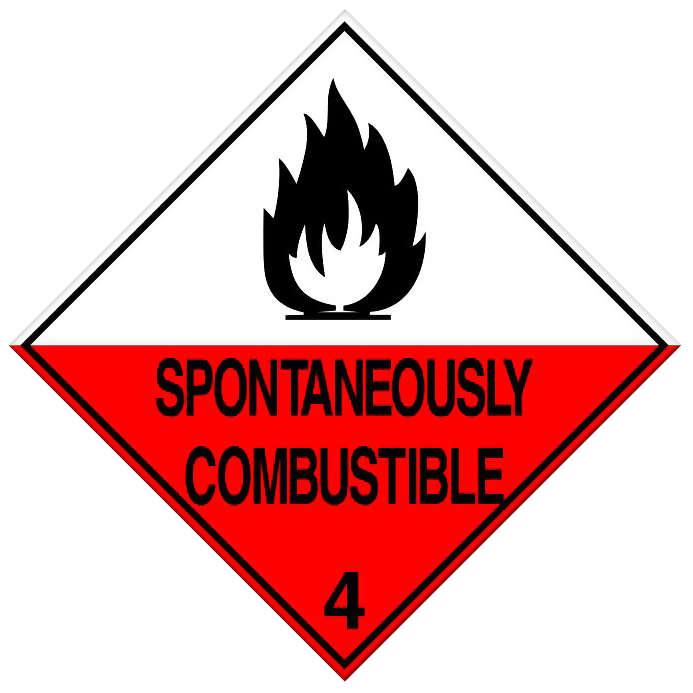 Spontaneously Combustible - Class 4