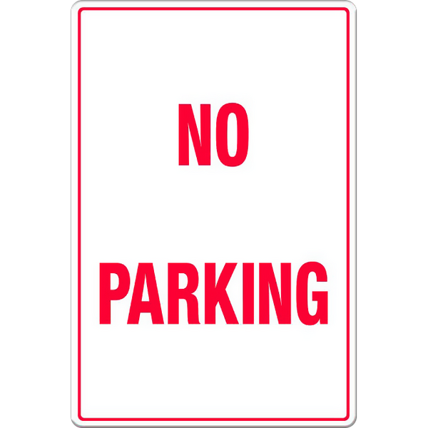 No Parking - Text Only