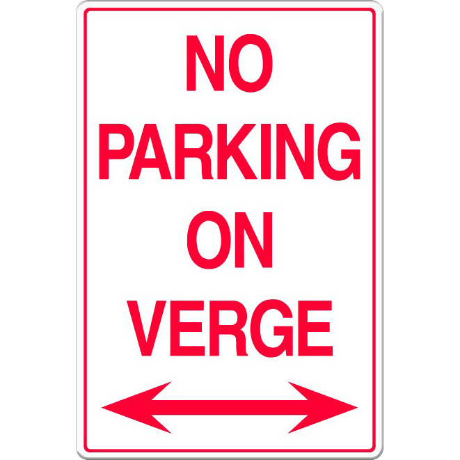 No Parking on Verge (With Arrows)