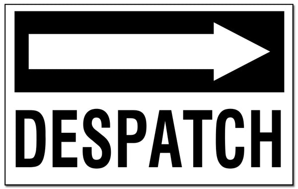 Despatch - with Right Pointing Arrow