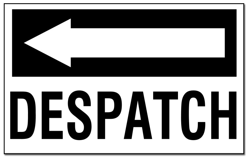 Despatch - with Left Pointing Arrow