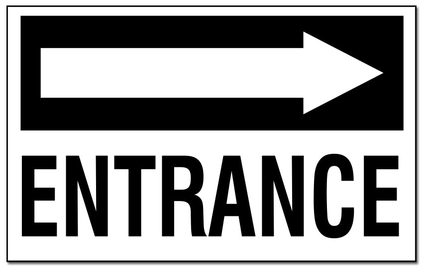 Entrance - with Right Pointing Arrow