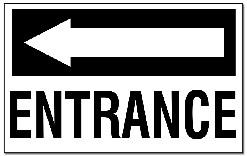 Entrance - with Left Pointing Arrow