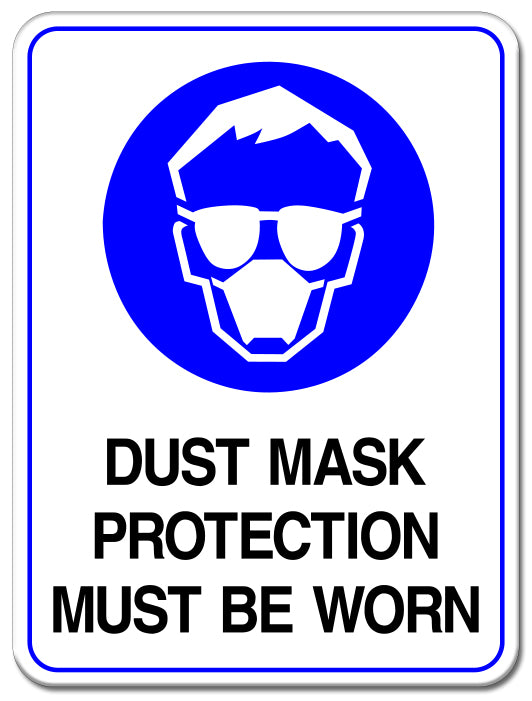 Dust Mask Protection Must Be Worn
