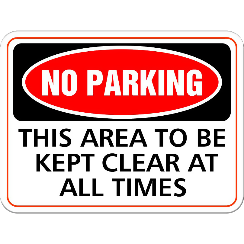 No Parking - This area to be kept clear at all times