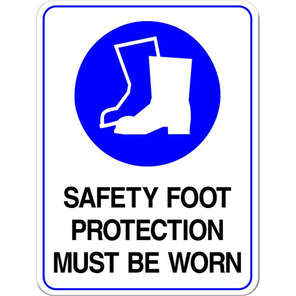 Safety Foot Protection Must Be Worn PPE Sign