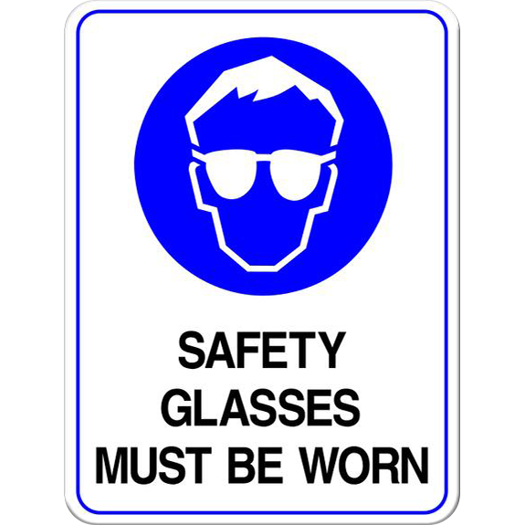 Safety Glasses Must Be Worn PPE Sign