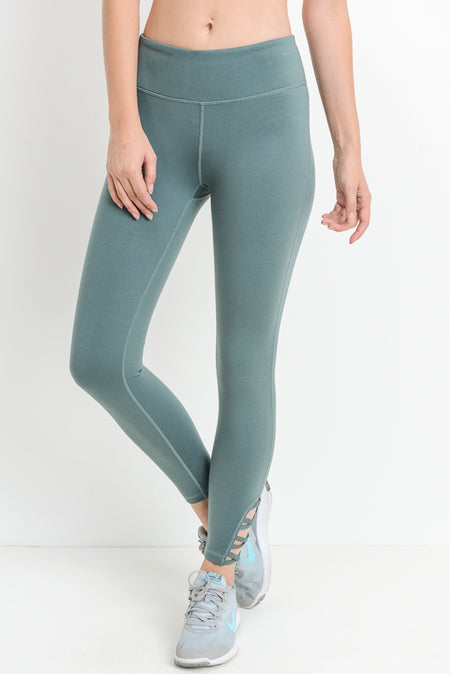 DEEP AND TRUE METAL BLUE PERFORMANCE LEGGING