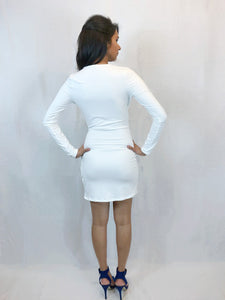 NO FAVOURS MINI DRESS (IVORY)