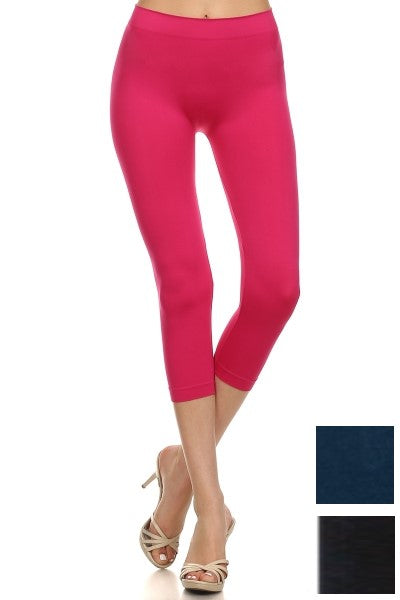 CHILL CROP LEGGING (available in Royal Blue and Black)