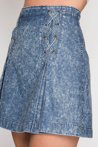 CHANCE CHAMBRAY MINI SKIRT