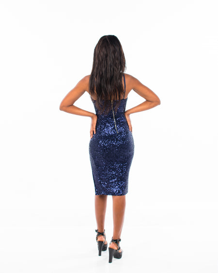 NIGHT DANCE MIDI DRESS